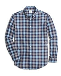 Brooks Brothers Blue Regent Slim Fit Woven Shirt for men
