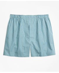 Brooks Brothers - Blue Traditional Fit Mini Multi-check Boxers for Men - Lyst