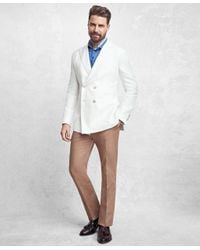 Brooks Brothers White Golden Fleece Double-breasted Twill Sport Coat for men