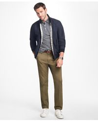 Brooks Brothers - Green Clark Fit Piece-dyed Supima® Cotton Stretch Chinos for Men - Lyst