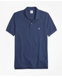 Brooks Brothers | Blue Slim Fit Supima® Cotton Performance Polo Shirt for Men | Lyst