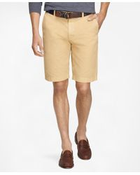 "Brooks Brothers | Natural Garment-dyed 11"" Lightweight Cotton Bermuda Shorts for Men 