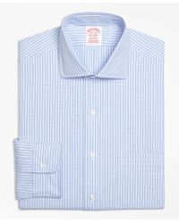 Brooks Brothers - Blue Madison Classic-fit Dress Shirt, Non-iron Dobby Windowpane for Men - Lyst