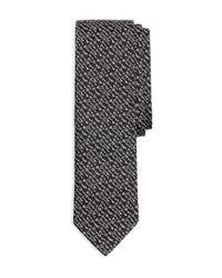 Brooks Brothers Black Woven Keys Slim Tie for men