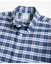 Brooks Brothers - Blue Non-iron Regent Fit Check Sport Shirt for Men - Lyst