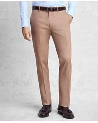 Brooks Brothers Multicolor Golden Fleece Cotton And Cashmere Gabardine Trousers for men