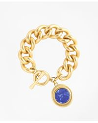Brooks Brothers | Metallic Gold-plated Toggle Pendant Bracelet | Lyst