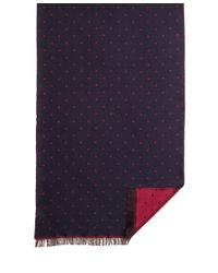 Brooks Brothers - Blue Mini Polka Dot Scarf for Men - Lyst