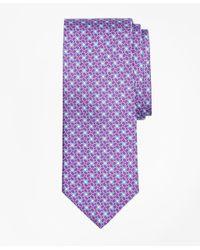 Brooks Brothers - Purple Horseshoe Motif Print Tie for Men - Lyst