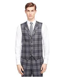 Brooks Brothers Gray Plaid Vest for men