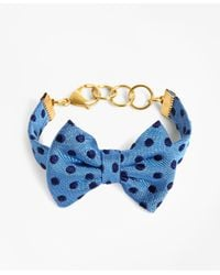 Brooks Brothers - Kiel James Patrick Blue And Navy Polka Dot Bow Tie Bracelet - Lyst