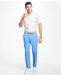 Brooks Brothers - Blue Clark Fit Supima® Cotton Stretch Chinos for Men - Lyst