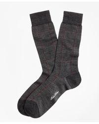Brooks Brothers - Gray Glen Plaid Crew Socks for Men - Lyst