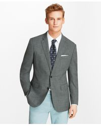 Brooks Brothers Gray Extra Slim Fit Hopsack Sport Coat for men