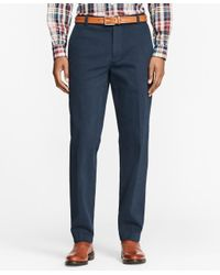 Brooks Brothers | Blue Milano Fit Brushed Twill With Stretch Chinos for Men | Lyst