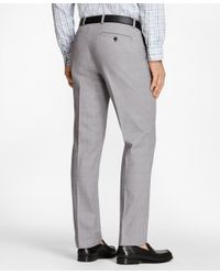 Brooks Brothers - Gray Milano Fit Glen Plaid Advantage Chinos® for Men - Lyst