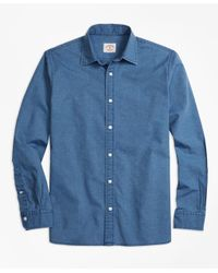 Brooks Brothers - Blue Chambray Sport Shirt for Men - Lyst