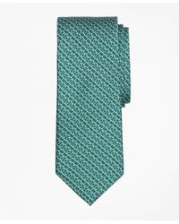 Brooks Brothers Green Chain Link Print Tie for men