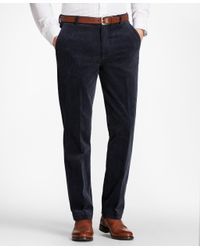 Brooks Brothers - Blue Clark Fit Wide Wale Stretch Corduroys for Men - Lyst