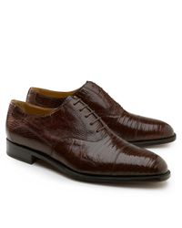Brooks Brothers Brown Lizard Captoe Lace-ups for men