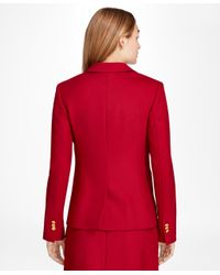 Brooks Brothers | Red Wool-blend Patch-pocket Blazer | Lyst