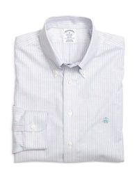 Brooks Brothers | Purple Non-iron Regent Fit Track Stripe Sport Shirt for Men | Lyst