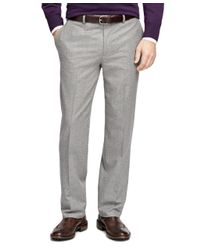 Brooks Brothers - Gray Fitzgerald Fit Flannel Trousers for Men - Lyst