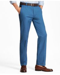 Brooks Brothers - Blue Clark Fit Supima® Cotton Poplin Stretch Chinos for Men - Lyst