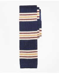 Brooks Brothers - Blue Triple Stripe Knit Tie for Men - Lyst