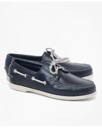 Brooks Brothers | Blue Leather Boat Shoes for Men | Lyst