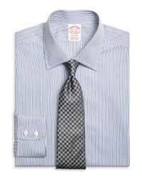 Brooks Brothers Blue Madison Classic-fit Dress Shirt, Rope Stripe for men