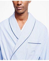 Brooks Brothers | Blue Framed Gingham Robe for Men | Lyst