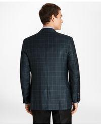 Brooks Brothers Blue Regent Fit Windowpane Sport Coat for men
