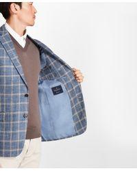 Brooks Brothers - Regent Fit Light-blue With Tan Windowpane Sport Coat for Men - Lyst