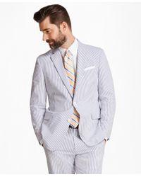 Brooks Brothers - Blue Regent Fit Stripe Seersucker Suit for Men - Lyst