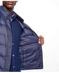 Brooks Brothers - Blue Lightweight Channel Quilted Down Vest for Men - Lyst