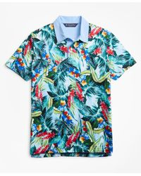 Brooks Brothers - Blue Slim Fit Bold Tropical Print Polo Shirt for Men - Lyst