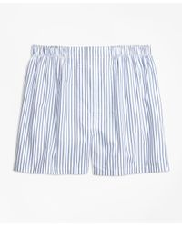 Brooks Brothers - Blue Traditional Fit Stripe Boxers for Men - Lyst