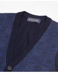 Brooks Brothers - Blue Merino Wool Plaid Waist Coat for Men - Lyst