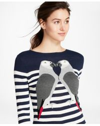 Brooks Brothers - Blue Silk-cashmere Parrot Sweater - Lyst