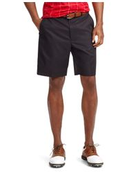 Brooks Brothers - Black St Andrews Links Plain-front Shorts for Men - Lyst