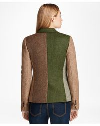 Brooks Brothers - Multicolor Patchwork Wool Tweed Jacket - Lyst