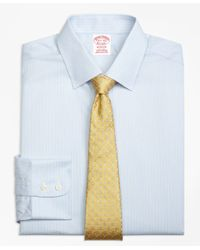 Brooks Brothers White Madison Classic-fit Dress Shirt, Non-iron Hairline Stripe for men
