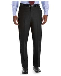 Brooks Brothers Gray Madison Fit Plain-front Flannel Trousers for men