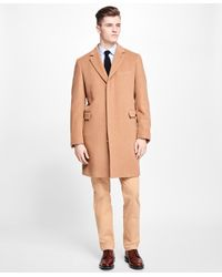 Brooks Brothers Natural Topcoat for men