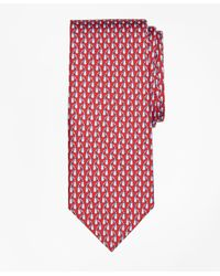 Brooks Brothers | Red Tie Motif Print Tie for Men | Lyst