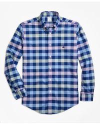 Brooks Brothers Blue Golden Fleece® Madison Fit Windowpane Sport Shirt for men
