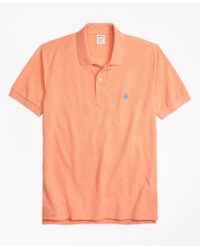 Brooks Brothers | Orange Slim Fit Supima® Cotton Performance Polo Shirt for Men | Lyst