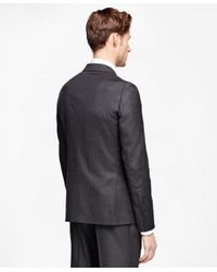Brooks Brothers - Gray Alternating Stripe Suit Jacket for Men - Lyst