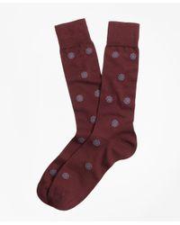 Brooks Brothers   Red Medallion Crew Socks for Men   Lyst